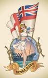 Fille royale de marine illustration de vecteur