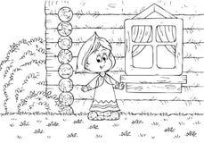 Fille rurale illustration stock