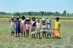 Fille rurale en Inde photo stock
