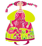 Fille russe illustration stock