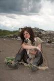 Fille sans foyer. Photographie stock libre de droits
