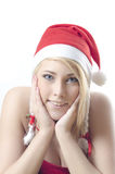 Fille Santa Images stock