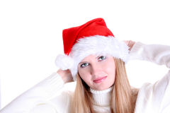 fille Santa Image stock