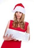 fille Santa Photo libre de droits