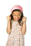 Fille semblant fâchée Photographie stock libre de droits