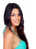 Fille sensuelle avec le bikini vert Image libre de droits