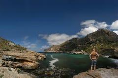 Fille sexy à Cala Figuera (Cabo Formentor, Mallorc Image libre de droits