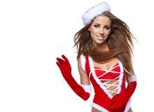 Fille sexy avec des cadeaux de Noël Photos libres de droits