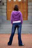 Fille sexy dans des jeans images libres de droits