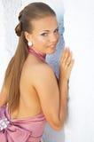 Fille dans la robe classique Photographie stock libre de droits