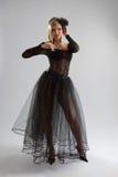 Fille sexy dans la robe diaphane Photographie stock libre de droits