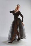 Fille sexy dans la robe diaphane Photographie stock