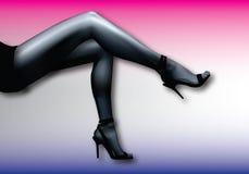 Fille sexy de pied Image libre de droits