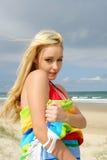 Fille de plage Photographie stock