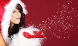 Fille de Santa Photo stock