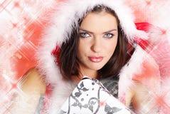 Fille sexy de Santa images libres de droits