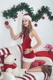 Fille sexy Santa photos stock