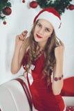 Fille sexy Santa Image libre de droits