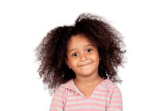 Fille smal adorable avec la coiffure Afro Photo stock