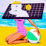 Fille solaire image libre de droits