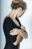Fille souffrant de la boulimie image libre de droits