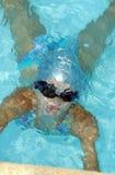 Fille sous l'eau Photo libre de droits