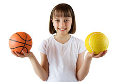 Fille sportive Photographie stock