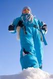 Fille sportive de l'hiver Photographie stock libre de droits