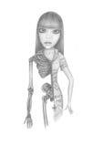 Fille-squelette Image libre de droits