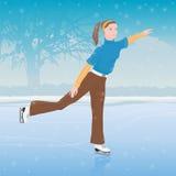 Fille sur des patins Illustration Libre de Droits
