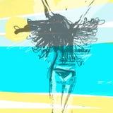 Fille sur la plage illustration stock