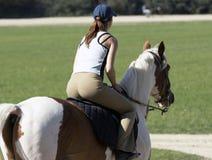 Fille sur le cheval Images libres de droits