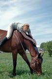 Fille sur le cheval image libre de droits