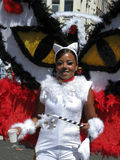 Fille sur le défilé carnaval d'été Images libres de droits