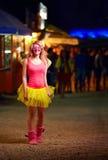 Fille sur le festival de musique, culture de la jeunesse Images stock
