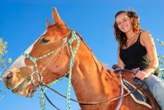 Fille sur un cheval Photos libres de droits