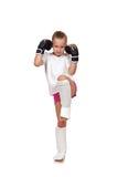 Fille thaïlandaise de boxe de Muay Image stock