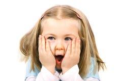 Fille étonnée Photographie stock libre de droits