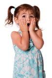 Fille étonnée d'enfant en bas âge Images libres de droits