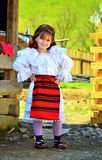 Fille traditionnelle roumaine de Maramures Photo libre de droits