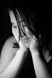 fille triste Photographie stock