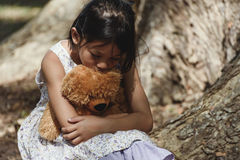 Fille triste adorable Images stock