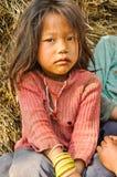 Fille triste au Népal Image libre de droits