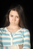Fille triste de brunette photographie stock