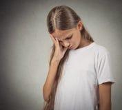 Fille triste et pensante d'adolescent Images stock
