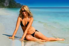 Fille tropicale Images stock