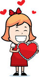 Fille Valentine Photo stock