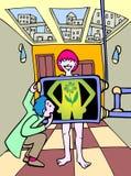 Fille verte d'énergie illustration de vecteur