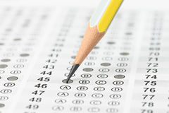 Filled answer sheet Royalty Free Stock Image