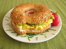 Filled Bagel Royalty Free Stock Photography